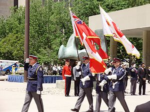 Toronto Transit Commission personnel - The TTC Honour Guard in Nathan Phillips Square