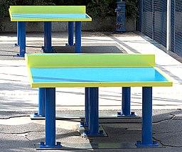 Tables de ping-pong, jardin Atlantique, Paris 2009