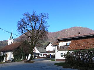Tacen Place in Upper Carniola, Slovenia
