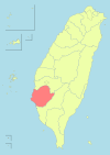 Taiwan ROC political division map Tainan City (2010).svg