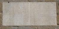 Epigrafe contenente la data 1255