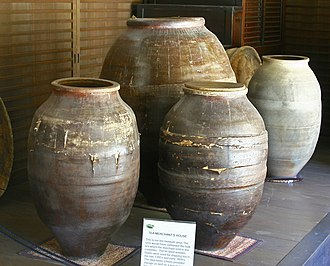 History of tea - Ancient Tea Urns used by merchants to store tea