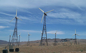 Tehachapi, California - Wind Turbines in the mountains