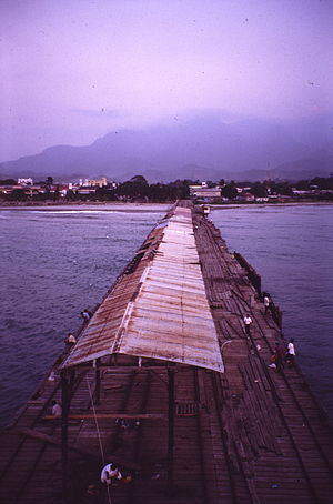 Tela, Honduras. Pier used to load bananas.