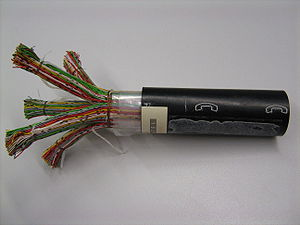 Primary line constants - Telephone cable containing multiple twisted-pair lines