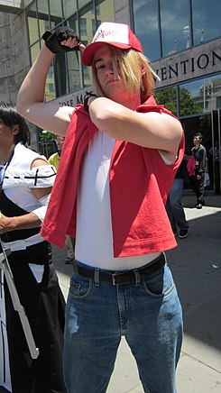 Terry Bogard cosplayer at FanimeCon 2010-05-30 1.JPG