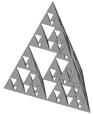 N-flake - Image: Tetraedre Sierpinski
