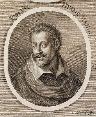 Joseph Heintz the Younger - Portrait of Joseph Heintz by Sandrart