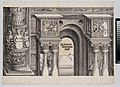 The Arch in the Entryway of the Right Portal (Die Porten des Adels); and the Outer Right Column of the Central Portal, from The Triumphal Arch of Maximilian I, 1st edition (1517-18) MET DP-16116-034.jpg