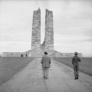 Provinces and territories of Canada - Canadian National Vimy Memorial – For First World War Canadian dead and First World War Canadian missing, presumed dead in France.