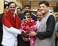 The Chief Minister of Telangana, Shri K. Chandrashekar Rao meeting the Minister of State (Independent Charge) for Power, Coal and New and Renewable Energy, Shri Piyush Goyal, in New Delhi on February 12, 2016.jpg