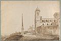 The Church of the Trinità dei Monti and the Villa Medici, Rome MET DP854073.jpg