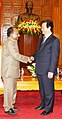 The Defence Minister, Shri A. K. Antony called on the Vietnamese Prime Minister, Mr. Nguyen Tan Dung, in Hanoi on October 13, 2010 (1).jpg