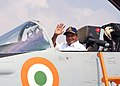 The Defence Minister, Shri A. K. Antony in cockpit of MIG - 29K during Induction Ceremony, at Indian Naval Base, Goa on February 19, 2010.jpg