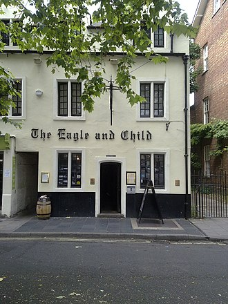 The Eagle and Child - The Eagle and Child from directly in front of the building, in St Giles Street.