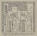 The Emperor Tiberius making an offering of land to Sebek and Hathor. (1902) - TIMEA.jpg