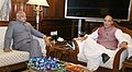 The Governor of Assam, Shri Banwarilal Purohit calling on the Union Home Minister, Shri Rajnath Singh, in New Delhi on August 11, 2017.jpg