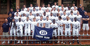London Blitz (American football) - The London Blitz prior to their 2011 EFAF Cup match in Spain