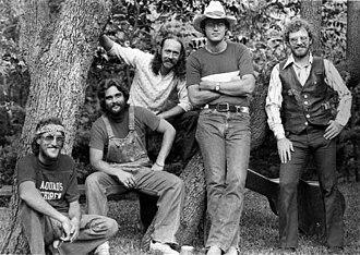 Gary P. Nunn - The Lost Gonzo Band, 1977, Gary P. Nunn on the far right