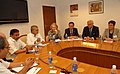 The Minister of Infrastructure and Environment, Netherlands, Mrs. Melanie Schultz Van Hagen, calls on the Union Minister for Road Transport and Highways, Dr. C.P. Joshi, in New Delhi on April 05, 2011.jpg