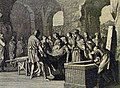 The Phillip Medhurst Picture Torah 275. Death of Jacob. Genesis cap 50 v 13. Luyken.jpg
