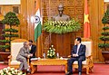 The President, Shri Pranab Mukherjee meeting the Prime Minister of the Socialist Republic of Vietnam, Mr. Nguyen Tan Dung, in Hanoi on September 15, 2014.jpg