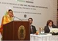 The President, Smt. Pratibha Devisingh Patil addressing the Syria-India Business Summit, at Damascus, in Syria on November 28, 2010.jpg