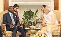 The Prime Minister, Shri Narendra Modi meeting the President of Guinea Bissau, Mr. Jose Mario Vaz, in New Delhi on October 30, 2015 (1).jpg