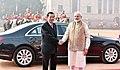 The Prime Minister, Shri Narendra Modi with the Prime Minister of the Kingdom of Cambodia, Mr. Samdech Akka Moha Sena Padei Techo Hun Sen, during the Ceremonial Reception, at Rashtrapati Bhavan, in New Delhi (1).jpg
