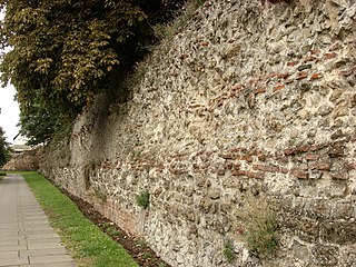 Roman castrum where Colchester, England now stands