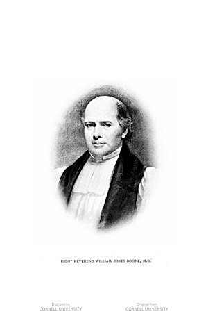 William Jones Boone (father) - Image: The Rt. Rev. William Jones Boone (father)