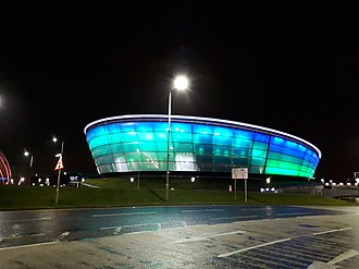 SSE Hydro - The SSE Hydro at night in November 2018