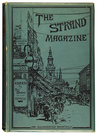 The Strand Magazine - Bound volume of The Strand Magazine for January–June 1894 featuring George Charles Haité's cover design