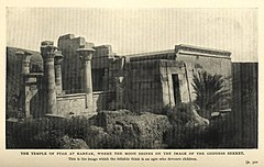 The Temple of Ptah at Karnak, Where the Moon Shines on the Image of the Goddess Sekket. (1911) - TIMEA.jpg