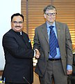 The Union Minister for Health & Family Welfare, Shri J.P. Nadda meeting the Co-Chair and Trustee, Bill and Melinda Gates Foundation (BMGF), Mr. Bill Gates, in New Delhi on December 04, 2015.jpg