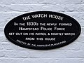 The Watch House In the 1830's the newly formed Hampstead Police Force set out on its patrol & nightly watch from this house.jpg