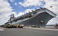 The amphibious assault ship USS Boxer (LHD 4) moors pierside as the ship arrives at Joint Base Pearl Harbor-Hickam, Hawaii, April 15, 2014 140415-N-WF272-060.jpg