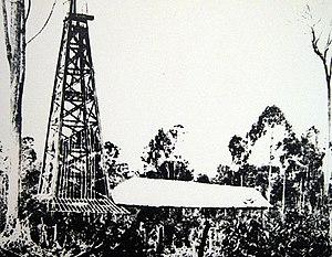 Miri, Malaysia - Miri Well No. 1 in 1910