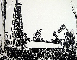 The first oil rig in Miri (Grand Old Lady)