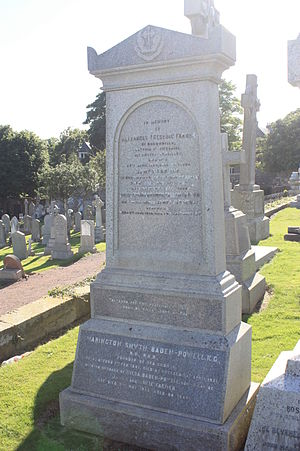 Warington Baden-Powell - The grave of Warington Baden-Powell, Eastern Cemetery, St Andrews