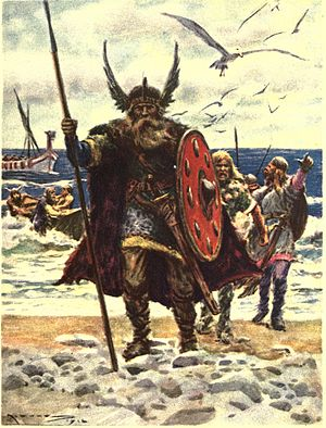 Leif Erikson - The landing of Vikings on America