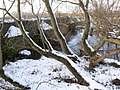 The snow covered Packhorse Bridge, Aylestone - geograph.org.uk - 1175030.jpg