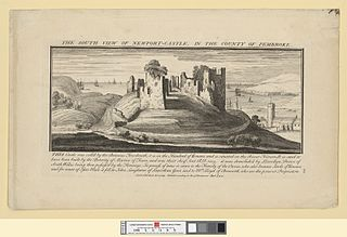 The south view of Newport castle: in the county of Pembroke
