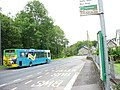 The stop for north-bound buses at Y Ganllwyd - geograph.org.uk - 542363.jpg