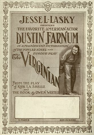 The Virginian (1914 film) - Theatrical poster