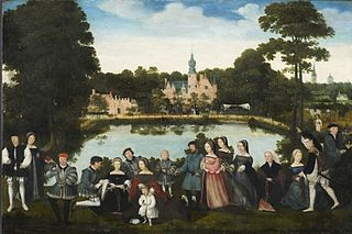 Thomas de Thiennes and family at Castle Rumbeke