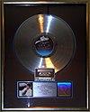 Thriller platinum record, Hard Rock Cafe Hollywood.JPG
