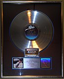Disco de platina do álbum Thriller
