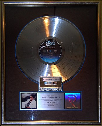 The platinum record for Michael Jackson's Thri...
