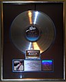Thriller platinum record, Hard Rock Cafe Hollywood.JPG